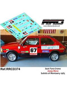 Seat Fura Crono Josep Mora Subida al Montseny 1983
