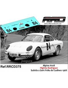 Alpine A108 Higinio Rodriguez Subida a Sant Feliu de Codines 1968