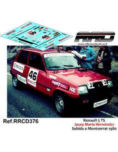 Renault 5 TS Josep Maria Hernandez Subida a Montserrat 1980