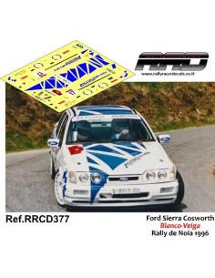 Ford Sierra Cosworth Blanco-Viega Rally de Noia 1996
