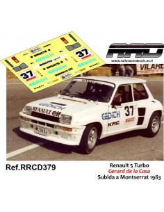 Renault 5 Turbo Gerard de la Casa Subida a Montserrat 1983