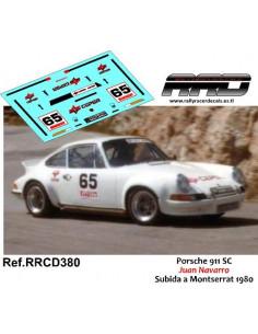 Porsche 911 SC Juan Navarro Subida a Montserrat 1980