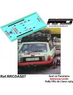 Seat 131 Panorama Asistencia Cardin Rally Villa de Llanes 1984