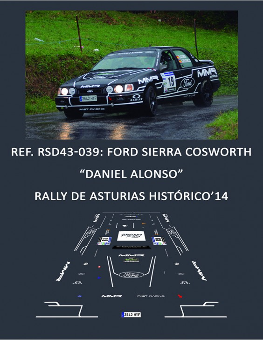 Ford Sierra Cosworth - Daniel Alonso - Rally de Asturias Histórico 2014