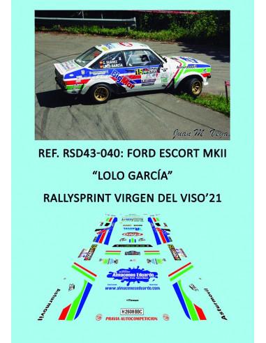 Ford Escort MkII - Lolo García - Rallysprint Virgen del Viso 2021