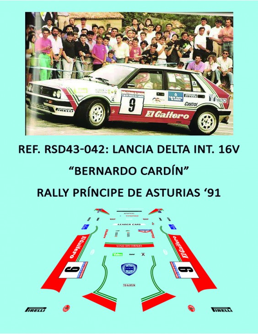 Lancia Delta Integrale 16v - Bernardo Cardín - Rally Príncipe de Asturias 1991