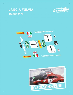 Lancia Fulvia Maroc 1972